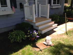 stairs landing and railings hingham handyman